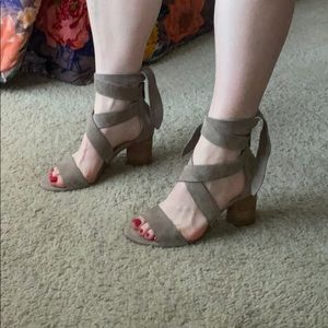 Vince Camuto ankle wrap heels (size 6.5)